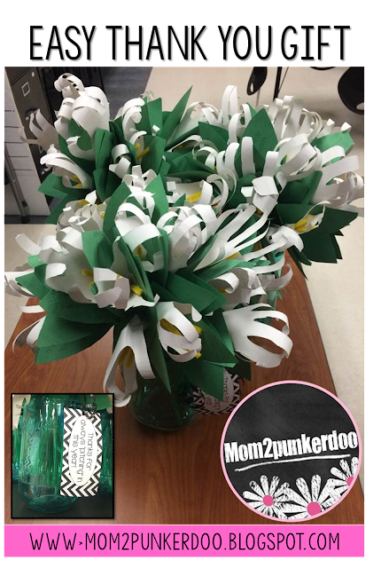 This is perfect idea for parent volunteer thank you gifts that is inexpensive, practical, and includes heartfelt messages from the students.