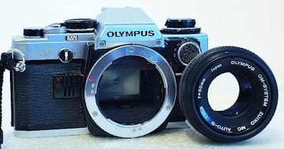 Olympus OM10 (Chrome) Body #478, Manual Adapter, Zuiko MC 50mm F1.8 #373