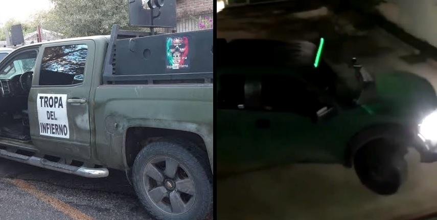 Video: Sicarios del Cártel del Noreste guardan sus camionetas en Derechos Humanos de Nuevo Laredo