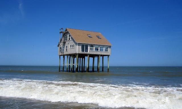 Stilt Floor at beach