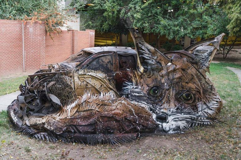 Street Artist Transforms Ordinary Junk Into Animals To Remind About Pollution - Fox