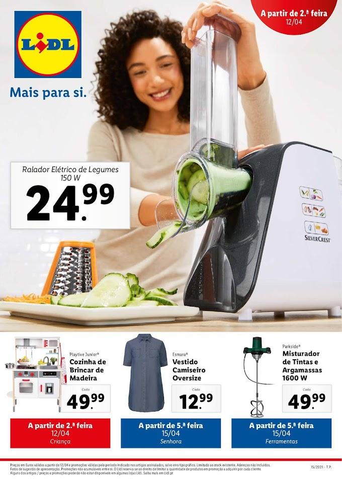 """Folheto LIDL """"Mais para Si"""" com as melhores promoções de 12 a 18 de abril"""