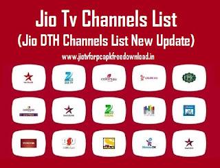 Jio Tv Channels List