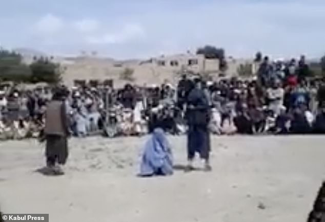 Woman Flogged 40 times by the Taliban for talking to a man on phone (Video)