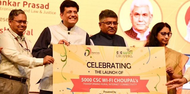 Govt launches 5000 Wi-Fi Choupals in villages