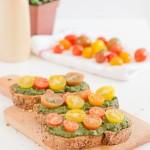 Bruschetta with Vegan Pesto   danceofstoves.com