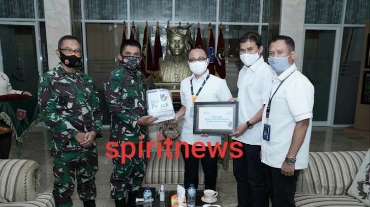 Kasdam Hasanuddin Terima Kunjungan PT. PLN (Persero) UIW Sulselrabar
