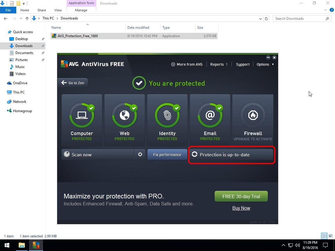 avg free windows 8