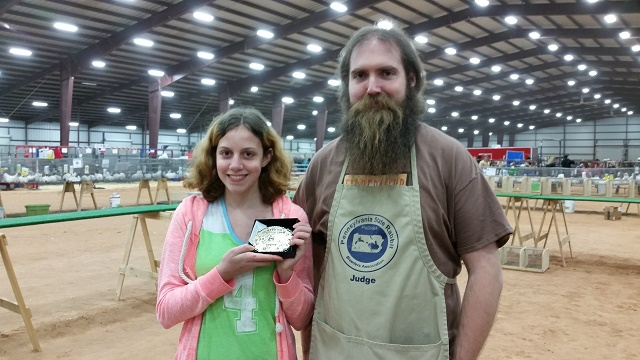 Years of perseverance led to the Senior Champion Rabbit Showman award.