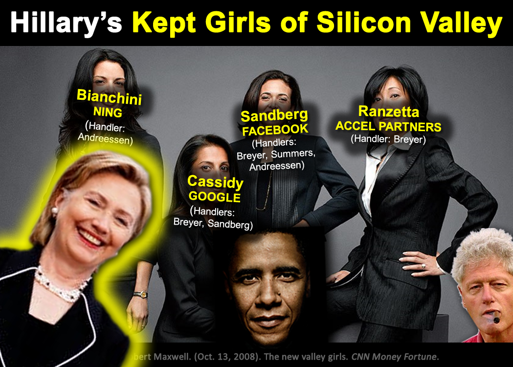 Hillary's kept girls of silicon valley