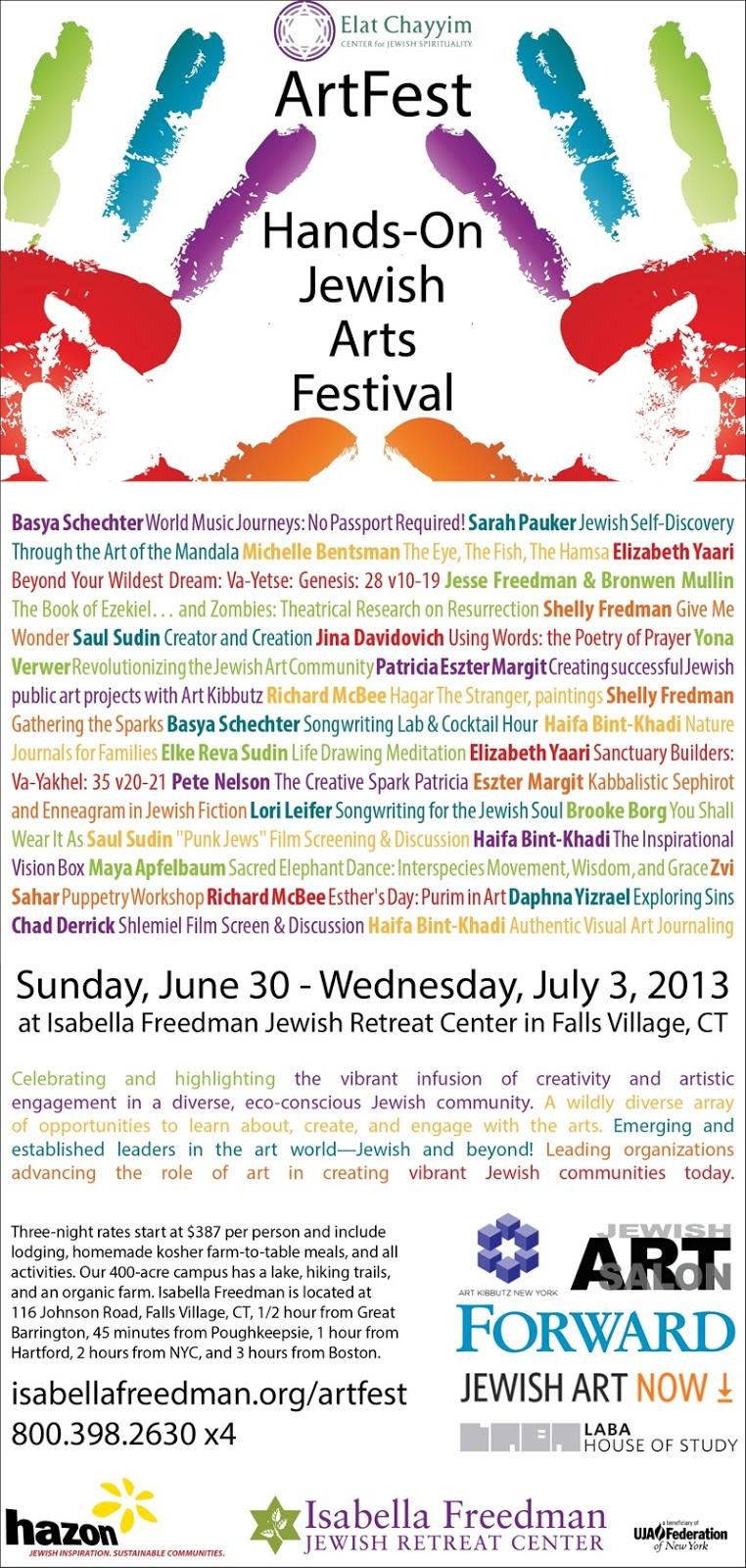 Jewish Art Salon: Jewish Art Salon at Elat Chayim ArtFest