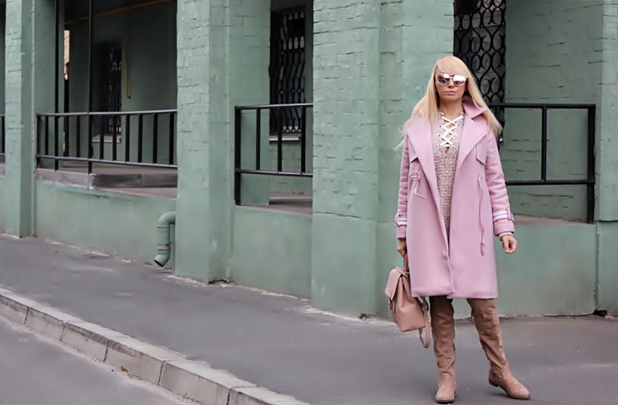 ROSEGAL Haul: Varsity Striped Wrap Coat. Шерстяное пальто / обзор, отзывы, фото