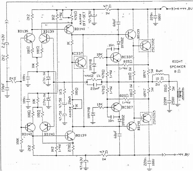 Schematic Diagrams: Stereo Amplifier Circuit Diagram using
