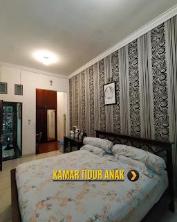 Kamar Tidur Anak Rumah 2 Lantai Semi Furnished 3 Kamar Tidur di Komplek Bumi Asri Jalan Asrama Pondok Kelapa Helvetia Medan