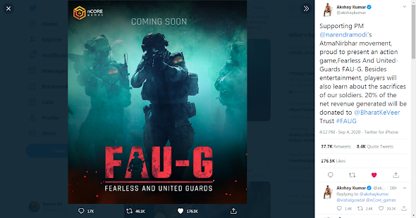 Faug new game | Akshay kumar new game faug