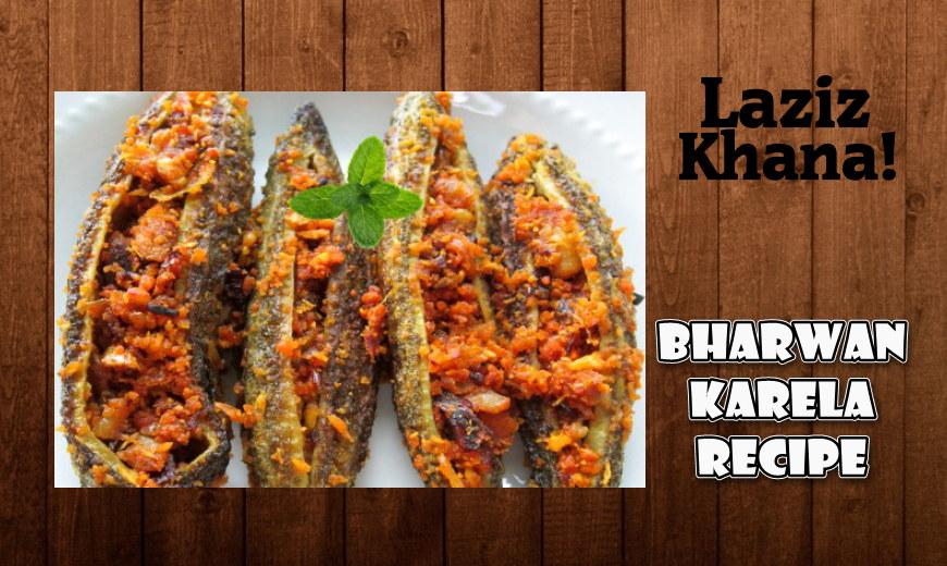 Bharwan Karela Recipe in Roman English - Bharwan Karela Banane ka Tarika
