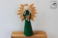 Aniołek w Zieleni - Figurka z Masy Solnej