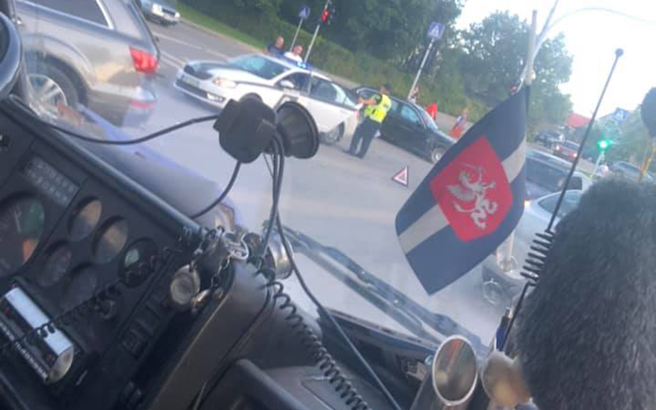 Divu vieglo automašīnu avārija Rēzeknē