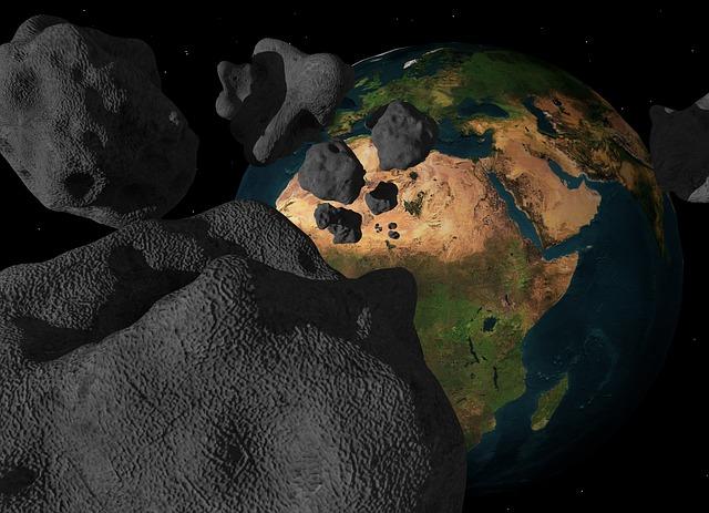 النيزك قرّب ، كويكب ضخم يقترب من الارض