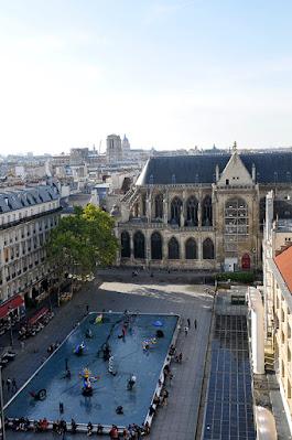 The Stravinsky Fountain in Paris
