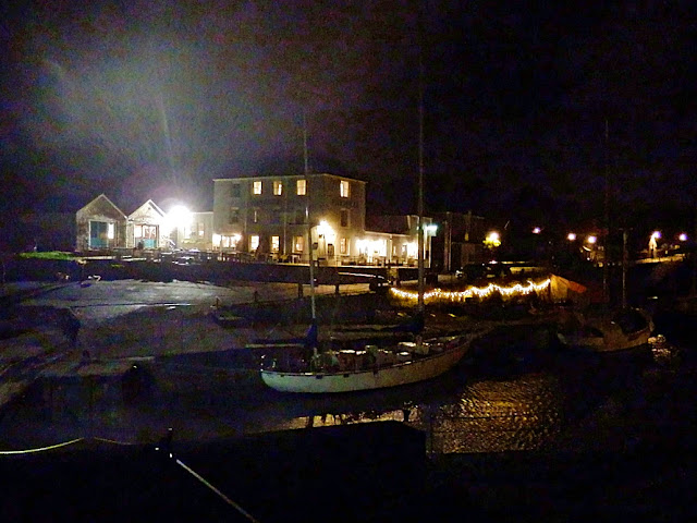 Night time in Charlestown, Cornwall