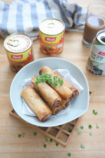 Popia Rangup Inti Kari Ayam Yeo's - masam manis
