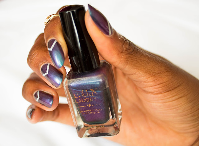 Topshop holographic F.U.N Lacquer eternal love nail polish