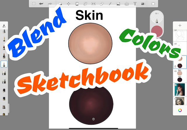 How to Blend Colors in SketchBook App
