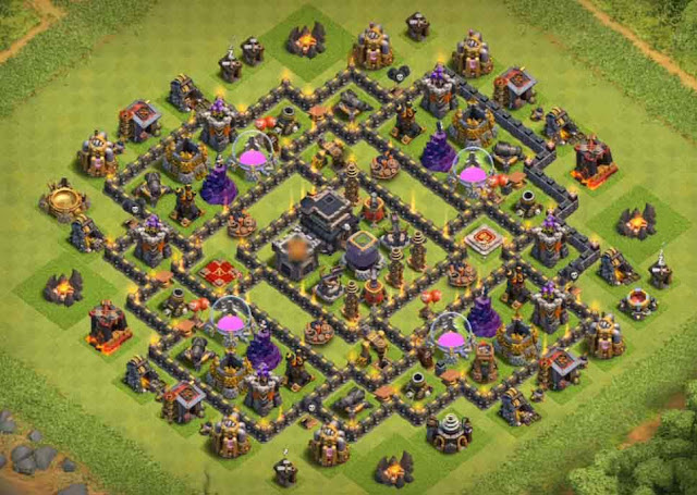 Base COC TH9 Farming 23