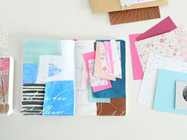 papiers collages - papers - créativité
