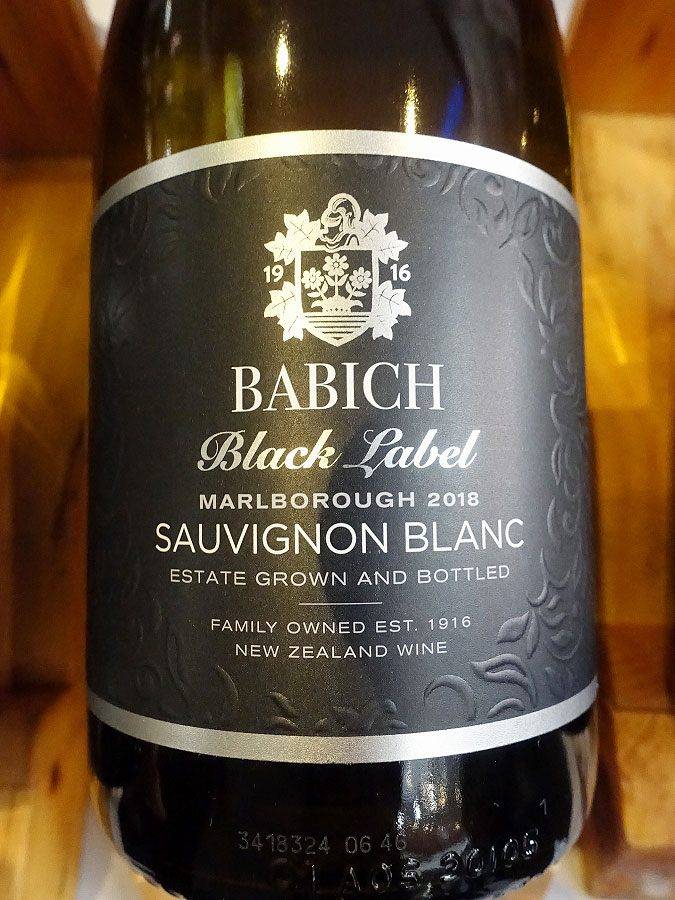 Babich Black Label Sauvignon Blanc 2018 (89 pts)