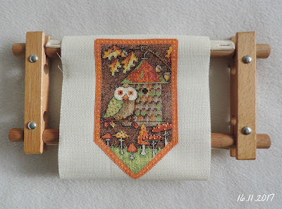 Сова вышивка fall Dimensions cross stitch вымпел