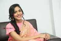Actress Ritu Varma Pos in Beautiful Pink Anarkali Dress at at Keshava Movie Interview .COM 0329.JPG