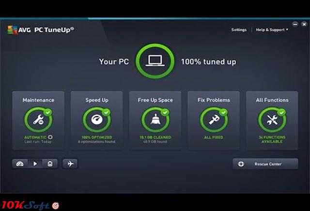 AVG PC TuneUp 2017 Offline Setup Free Download