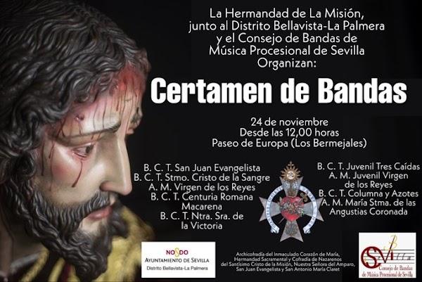 Certamen de bandas de música procesional en Paseo de Europa (Los Bermejales) con motivo de la festividad de Santa Cecilia