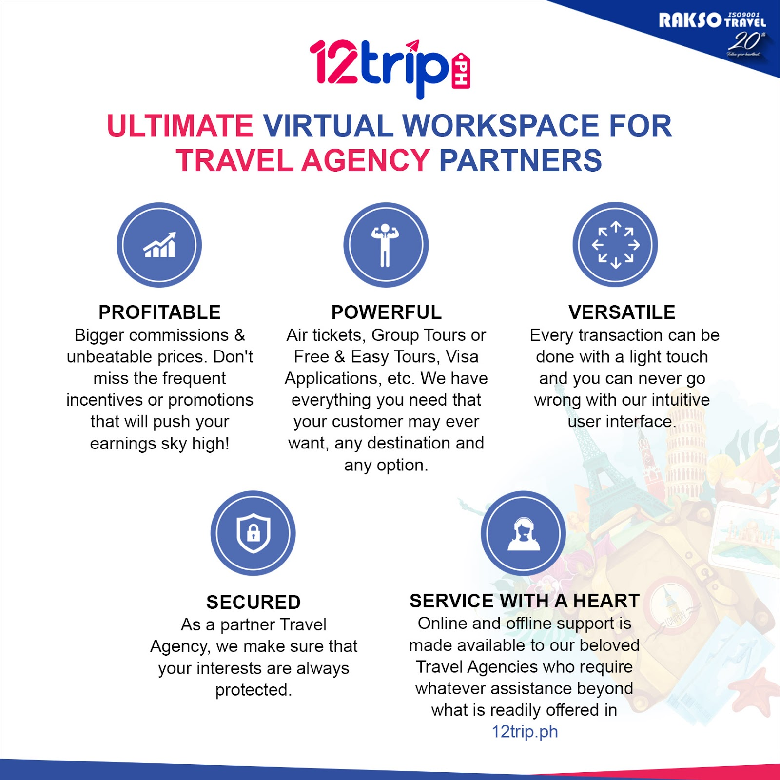 Rakso Travel launched B2B Online Workspace, 12trip ph for Trade