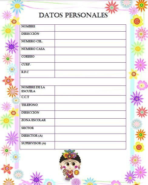 Agenda escolar 2018/2019 para imprimir GRATIS