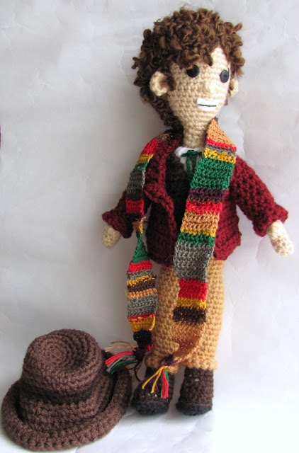 The Fourth Doctor Who crochet by Tamdoll