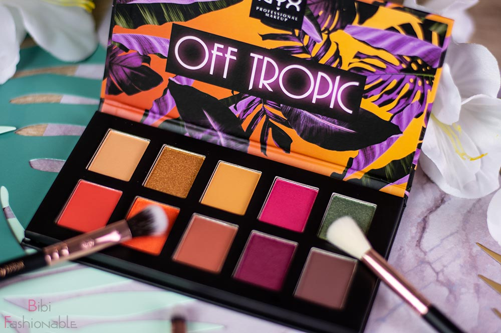 NYX Professional MakeUp Off Tropic Shadow Palette Shifting Sand nah