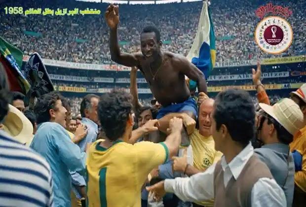 بيليه,منتخب البرازيل,كاس العالم 1958