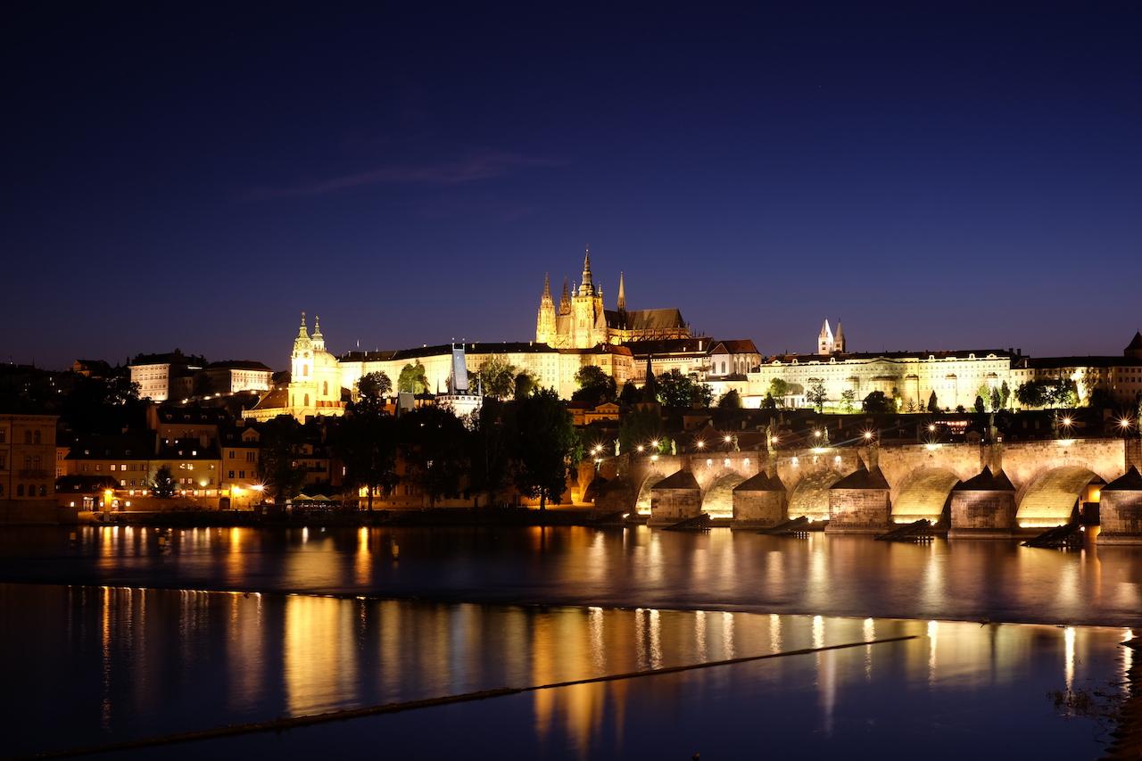 Vlatva River Waterfront, Prague, Czech Republic