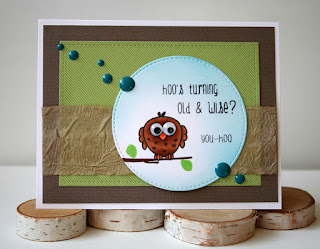 Owl Birthday Card featuring Create a Smile Stamps by Jess Gerstner