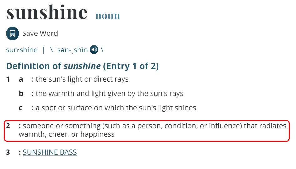 Penjelasan Sunshine