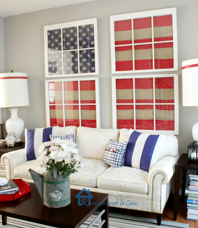 red white and blue living room remodelando la casa. Black Bedroom Furniture Sets. Home Design Ideas