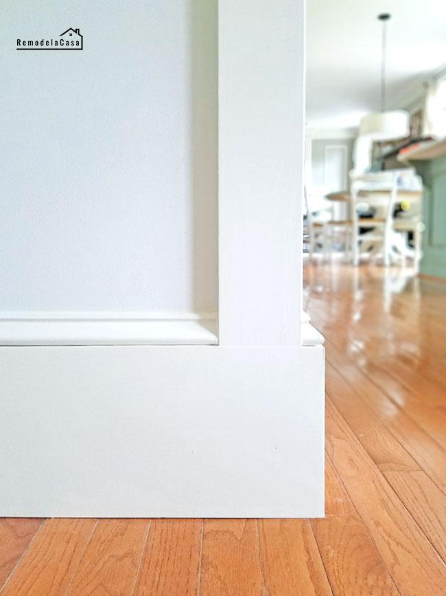 baseboard meets door trim solution