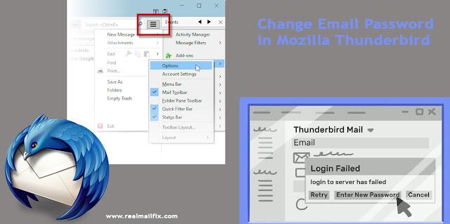 Mozilla Thunderbird login Password Change