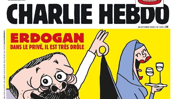 Erdoğan szerepel a Charlie Hebdo szerdai címlapján