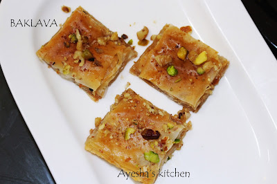 ayeshas kitchen sweets recipes turkish baklava recipes simple perfect baklava recipe bakery style sweets mixed nuts sweets yummy recipes easy sweets