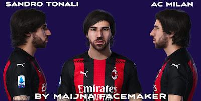 PES 2021 Faces Sandro Tonali by Maijna