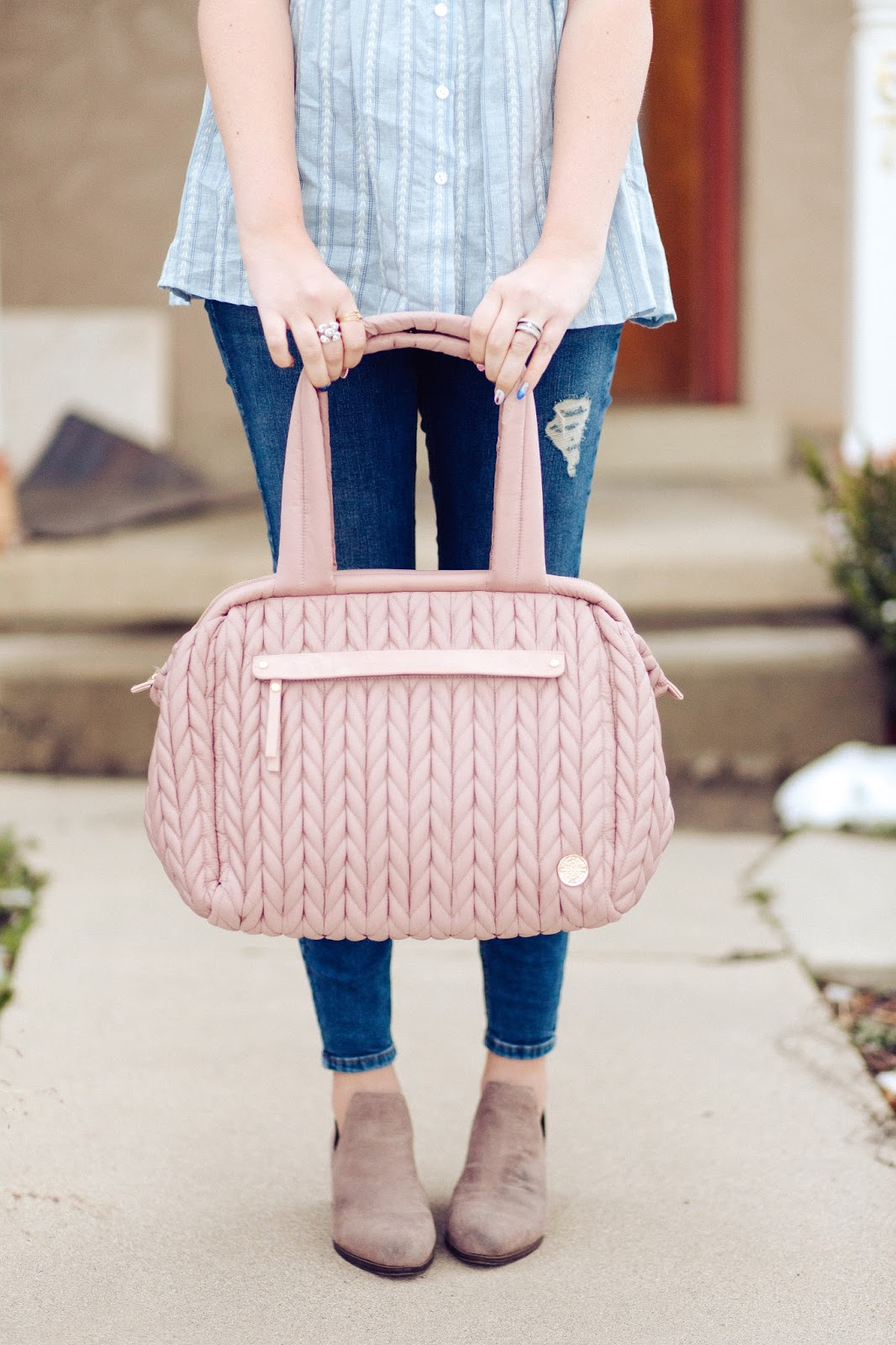 HAPP Diaper Bag, Pink Diaper Bag, Cutest Diaper Bag